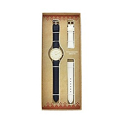 Mantaray - Ladies navy analogue watch with additional white strap