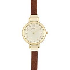 Mantaray - Brown analogue watch