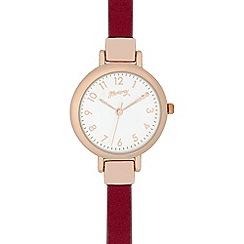 Mantaray - Ladies dark pink and gold analogue watch