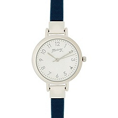 Mantaray - Ladies dark blue and silver analogue watch