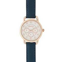 Mantaray - Ladies dark blue mock multi dial watch