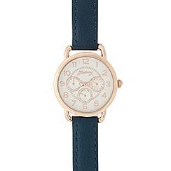 Mantaray - Ladies dark blue mock multi dial watch