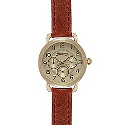 Mantaray - Ladies tan mock multi dial watch