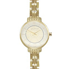 Mantaray - Ladies gold plated spiral dial analogue watch