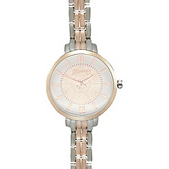 Mantaray - Ladies rose gold plated spiral dial analogue watch