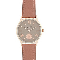 Principles by Ben de Lisi - Rose gold leather analogue watch