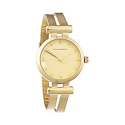 RJR.John Rocha - Ladies gold meshed strap watch