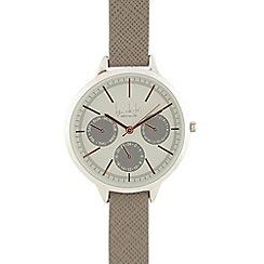 Principles by Ben de Lisi - Ladies grey checked analogue watch
