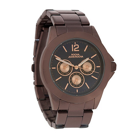 RJR.John Rocha - Ladies chocolate bracelet watch