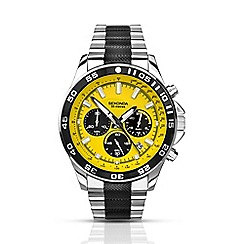 Sekonda - Men's yellow dial chronograph watch 1023