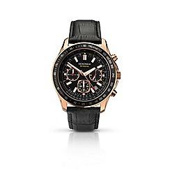Sekonda - Men's rose gold black dial chronograph watch