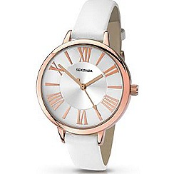 Sekonda - Ladies white and rose gold watch