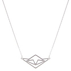 Pilgrim - Silver plated geometric necklace