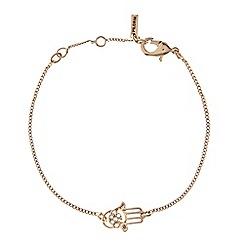 Pilgrim - Gold plated crystal hamsa hand bracelet