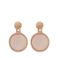 Pilgrim - Rose gold 2 in 1 nude stud earrings
