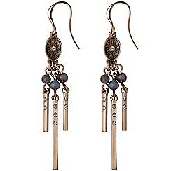 Pilgrim - Rose gold and grey dangle earrings