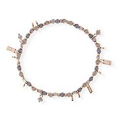 Pilgrim - Rose gold and grey beaded bracelet