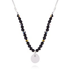 Pilgrim - Silver and black beaded necklace