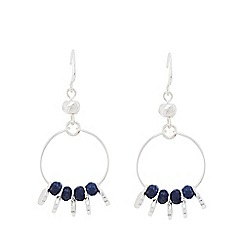 Pilgrim - Silver and blue chandelier earrings