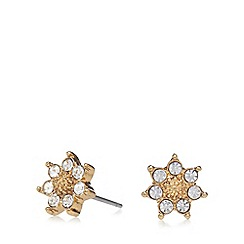 Pilgrim - Gold plated crystal star stud earrings