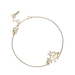 Pilgrim - Gold plated crystal tree bracelet
