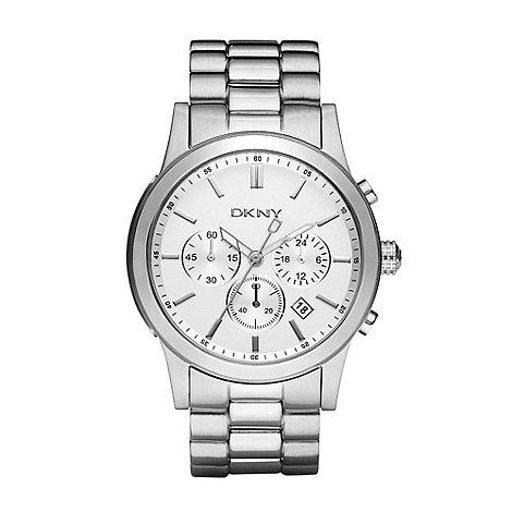 DKNY - Men+s silver chronograph dial bracelet watch