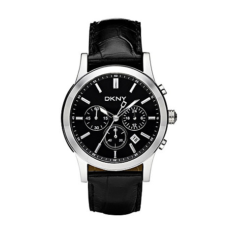 DKNY - Men+s black chronograph bracelet watch