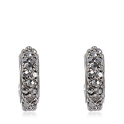 Pilgrim - Hematite grey creole hoop earrings