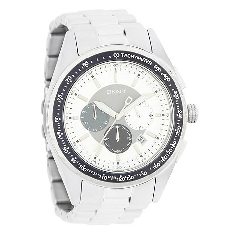 DKNY - Men+s stainless steel chronograph dial watch
