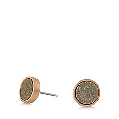 Pilgrim - Rose gold and grey stud earrings