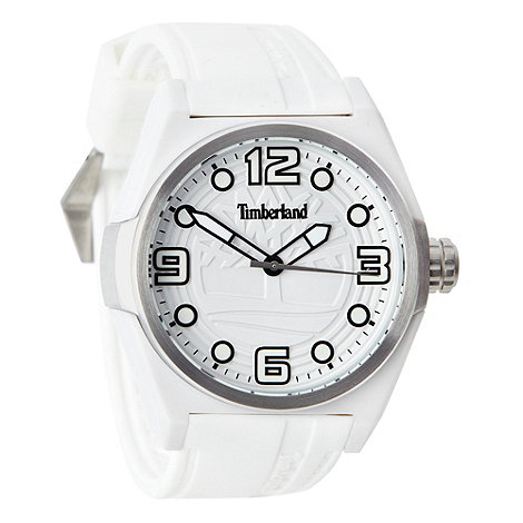 Timberland - Men+s white analogue dial plastic strap watch