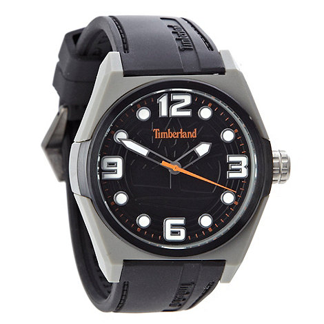 Timberland - Men+s black analogue dial embossed strap watch