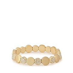 Pilgrim - Gold plated crystal disc bracelet