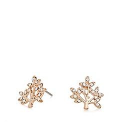 Pilgrim - Rose gold crystal stud earrings