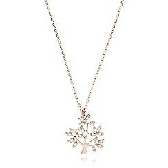 Pilgrim - Rose gold crystal tree necklace