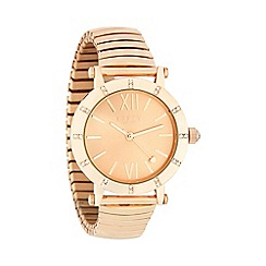 Lipsy - Ladies bronze stretch bracelet watch