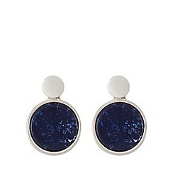 Pilgrim - Silver plated 2 in 1blue stud earrings