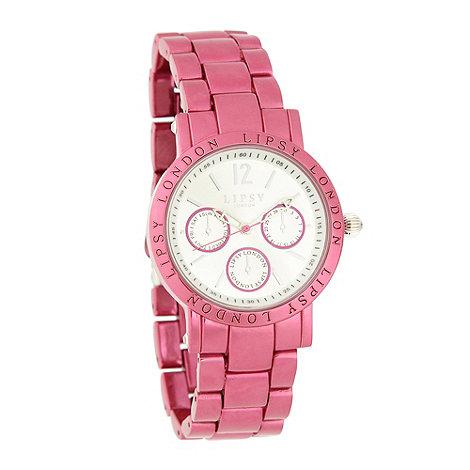 Lipsy - Ladies pink metallic bracelet watch