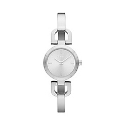 DKNY - Ladies silver square bracelet watch