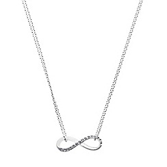 Pilgrim - Silver plated infinity pendant necklace