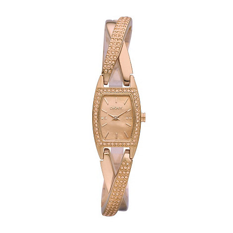 DKNY - Ladies rose cross over bracelet watch