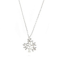 Pilgrim - Silver plated crystal tree necklace