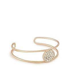 Pilgrim - Rose gold crystal cuff bracelet