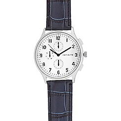 Infinite - Men's blue leather mock multi dial watch