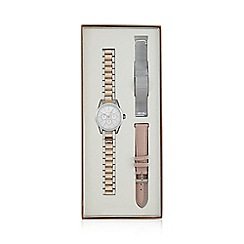 Red Herring - Ladies' silver analogue watch with interchangeable straps set