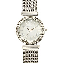 Red Herring - Ladies silver plated mesh strap watch