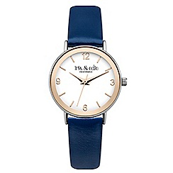 Iris & Edie - Ladies navy bezel watch
