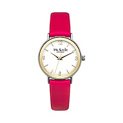 Iris & Edie - Ladies pink bezel watch