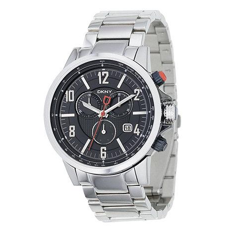 DKNY - Men+s silver 3D chronograph dial bracelet watch