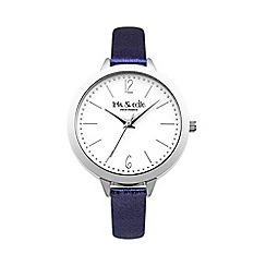 Iris & Edie - Ladies blue metallic strap round watch